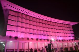 Wapda House Pink Ribbon Illumination